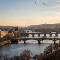 Зимнее солнце. Прага